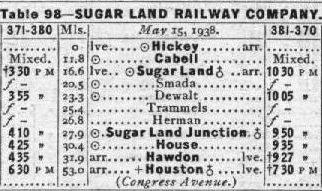 SL Ry 1939 schedule